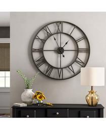 Iron Roman Numeral wall clock 76cm