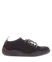 Black sock-inspired thick sole sneakers
