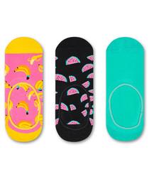 3pc Men's multi-colour sock set