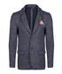 Navy cotton blend texture blazer Sale - giorgio di mare Sale