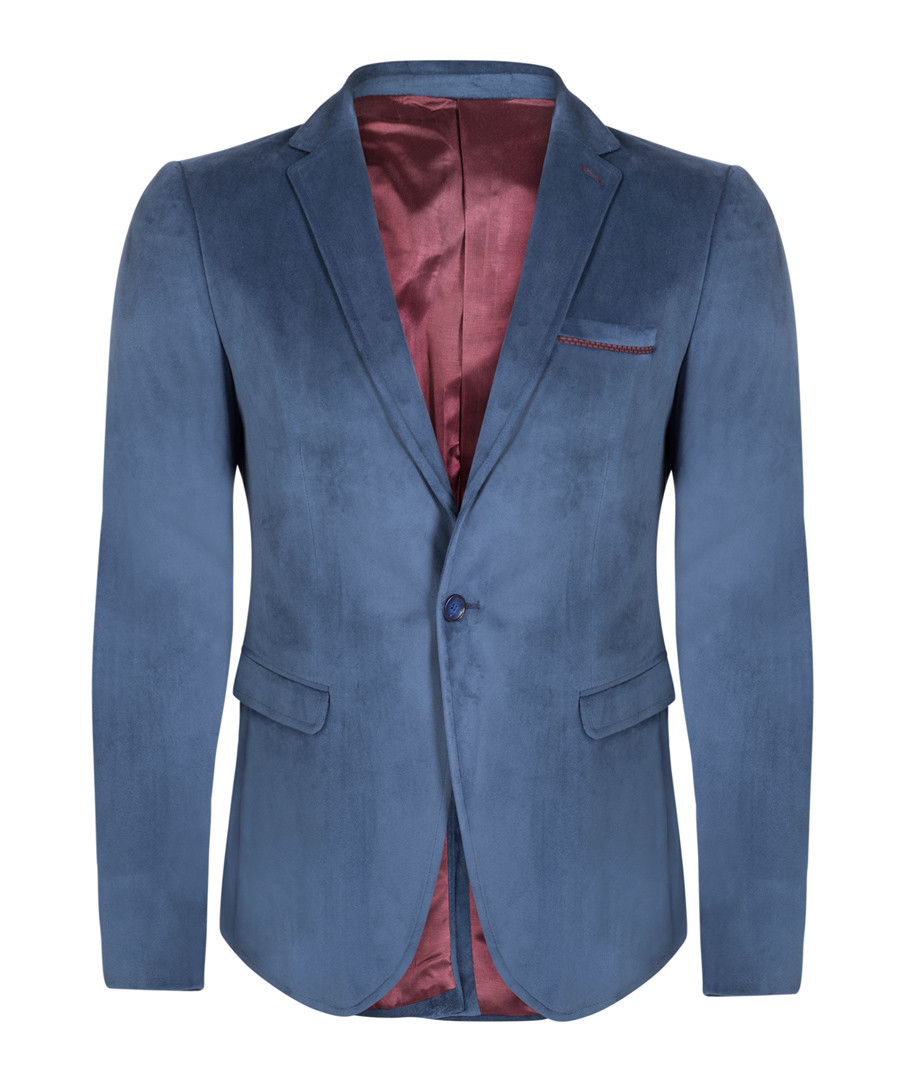 Blue velvet blazer Sale - giorgio di mare