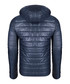 Navy & green padded hooded jacket Sale - giorgio di mare Sale