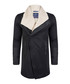 Black cotton blend fleece-collar jacket Sale - giorgio di mare Sale