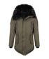 Khaki cotton blend parka coat Sale - giorgio di mare Sale