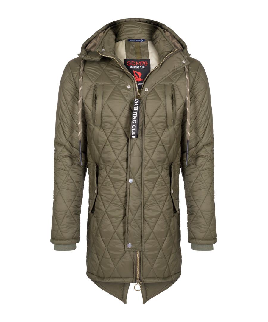 Khaki quilt hooded coat Sale - giorgio di mare
