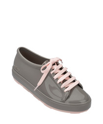Be 20 grey & pink lace-up sneakers