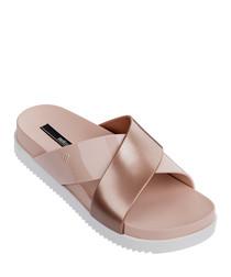 Cosmic Cross dusty pink sandals