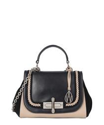Redmayne black leather & suede bag