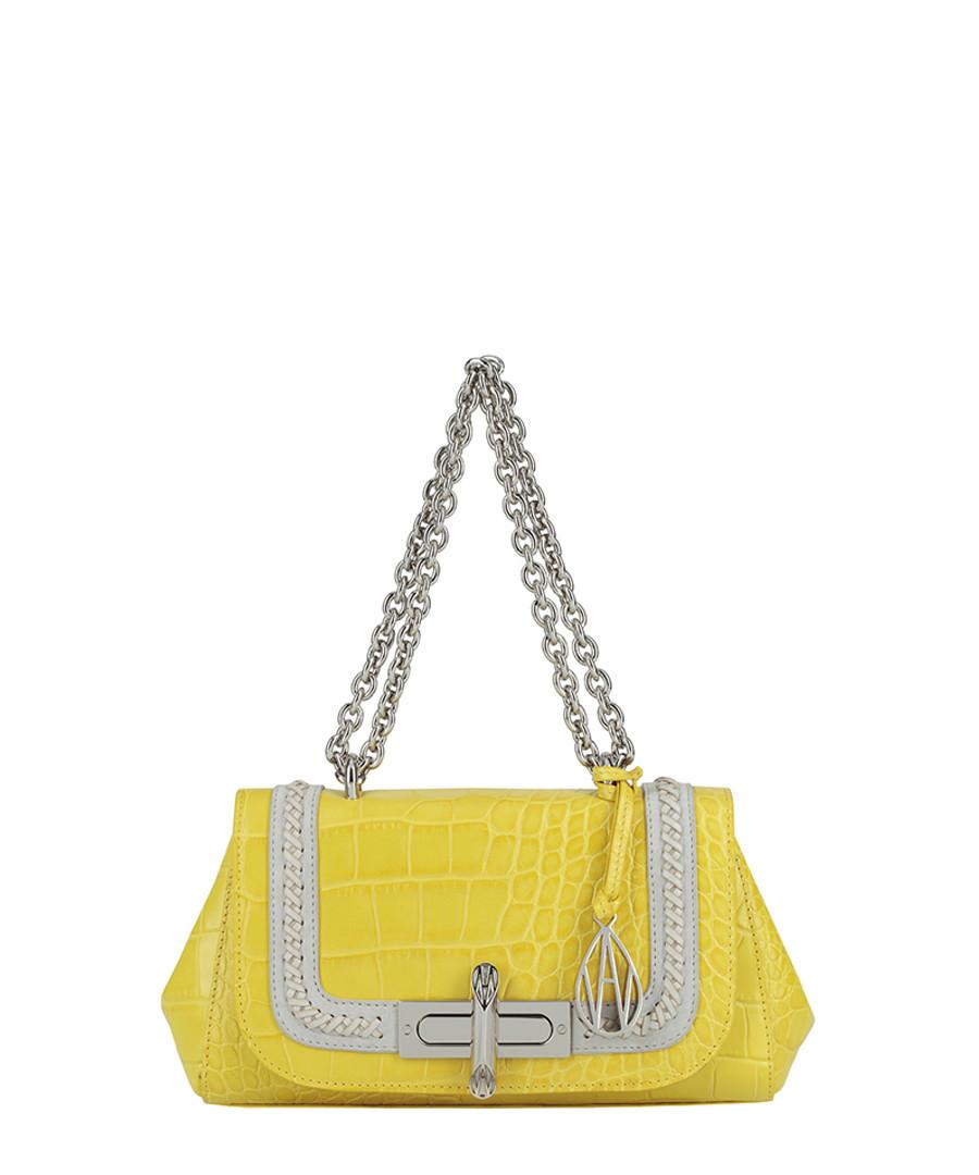 Redmayne lemon moc-croc shoulder bag Sale - Amanda Wakeley