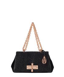 Redmayne black leather shoulder bag