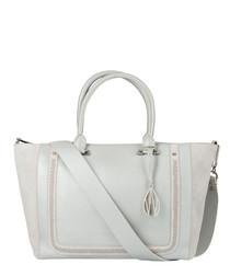 Johansson silver leather grab bag