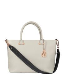 Campbell mineral leather shoulder bag