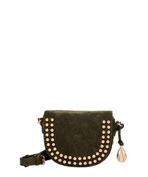 Mini Cooper khaki suede cross body