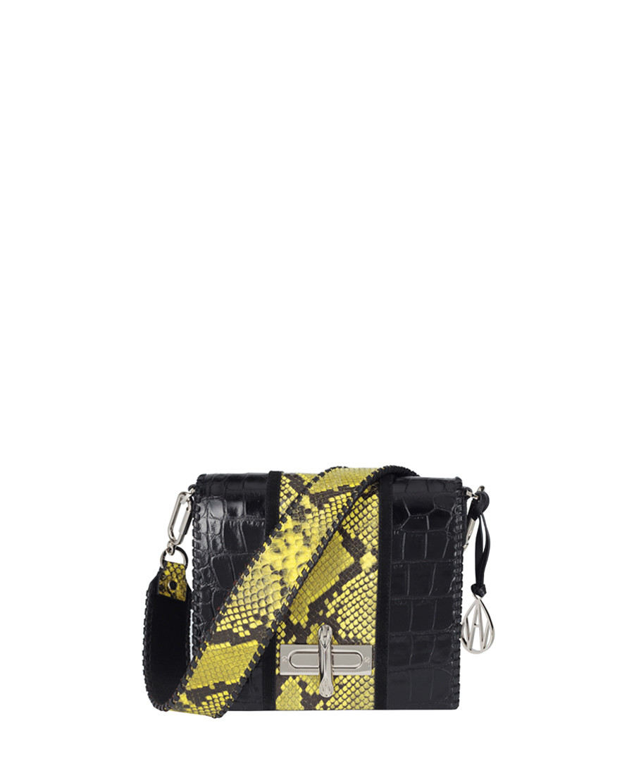 Stripe Costello acid snake effect bag Sale - Amanda Wakeley