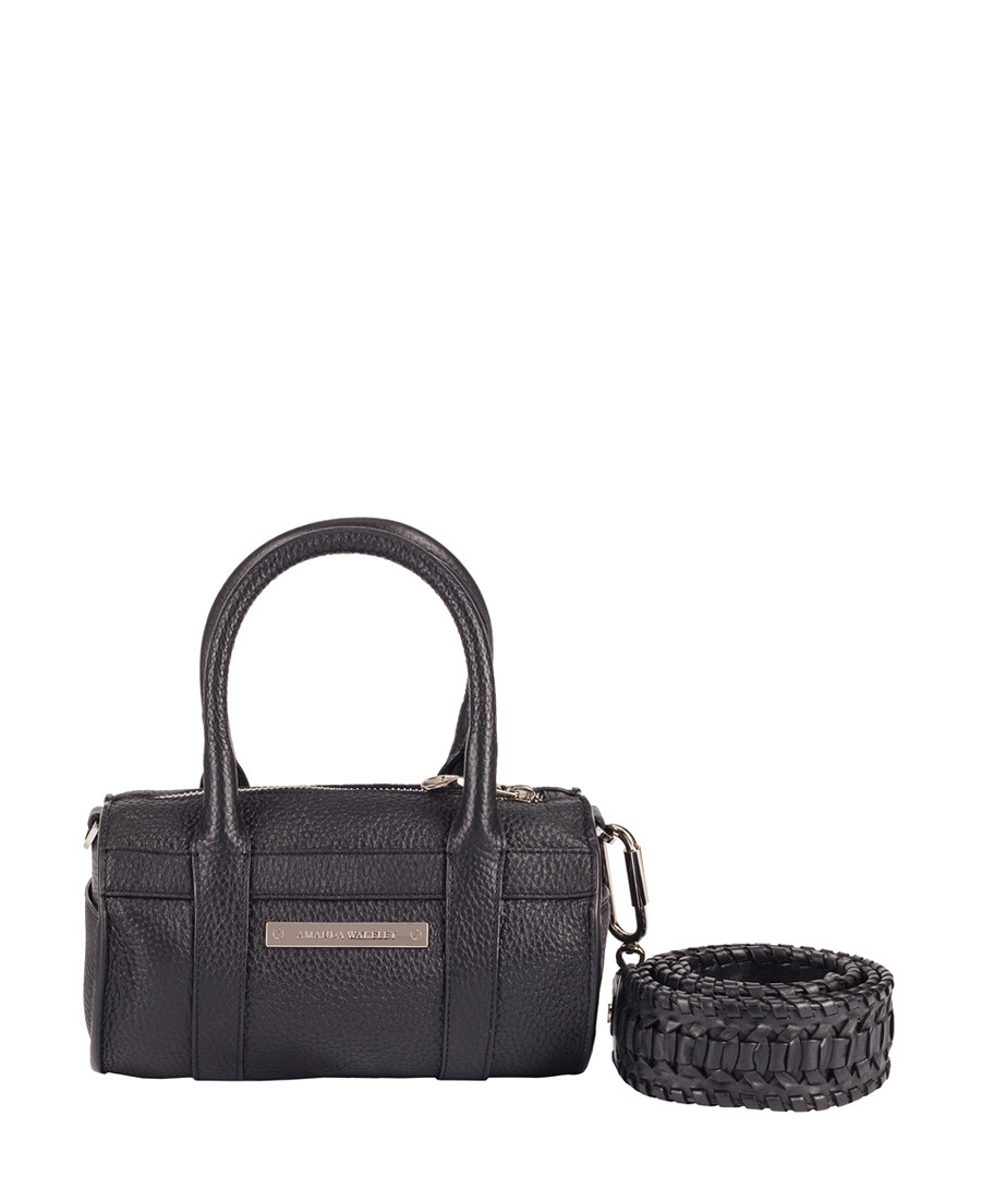 Mini Hendrix black leather shoulder bag Sale - Amanda Wakeley