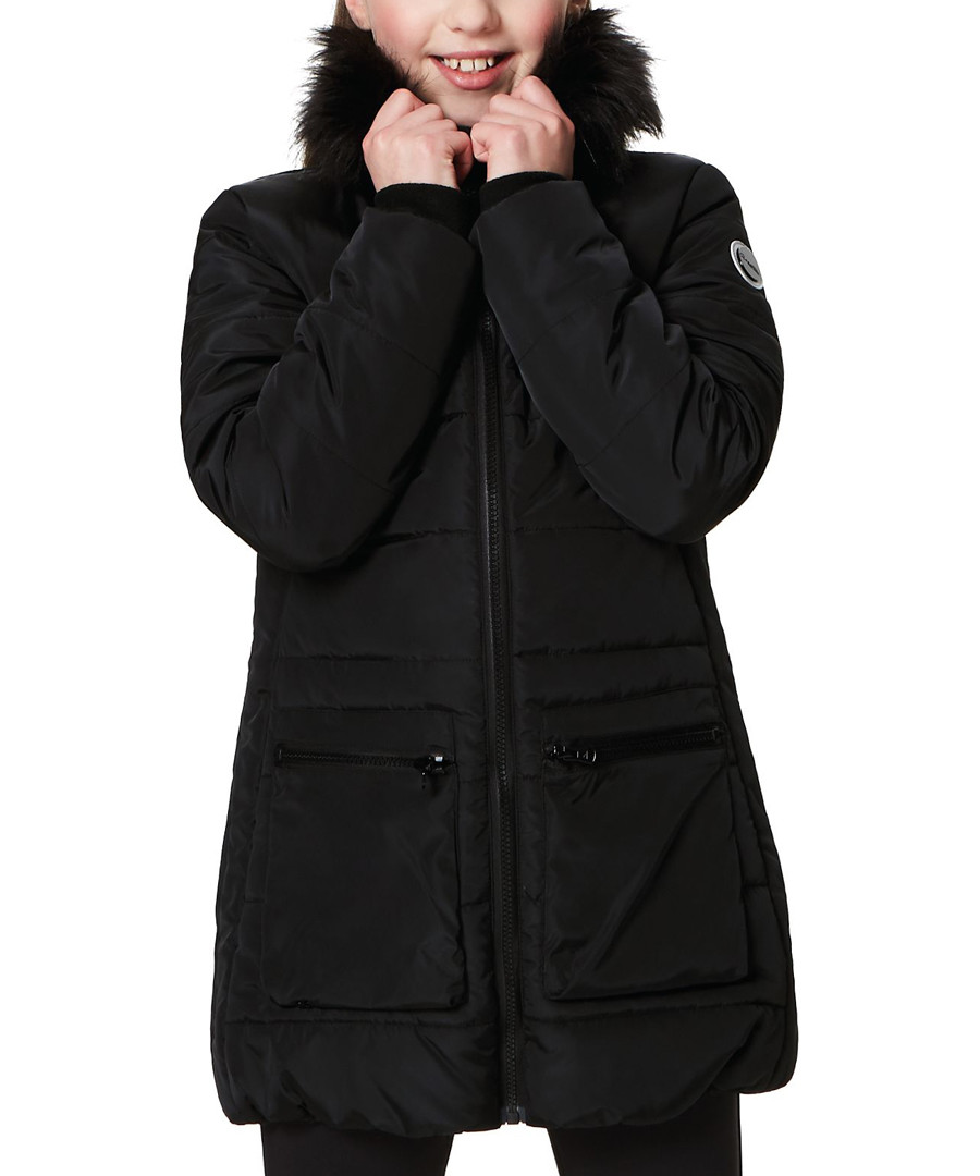 Kids' black pocket parka coat Sale - regatta