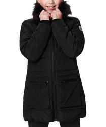Kids' black pocket parka coat