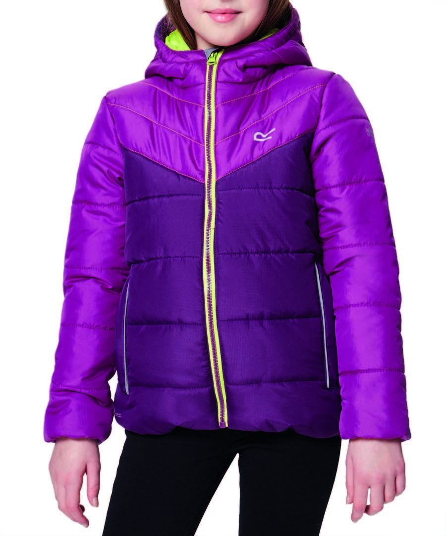 Kids' purple padded hooded jacket Sale - regatta