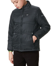 Kids' black nylon padded jacket