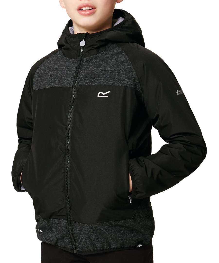 Black textured full-zip hooded jacket Sale - regatta