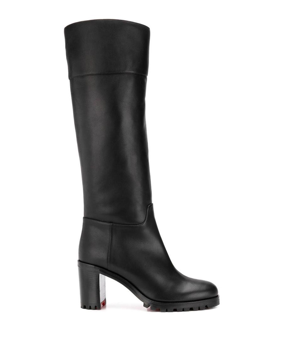 the best attitude 92cf0 0af15 Discount Kari black leather heel knee-high boots | SECRETSALES