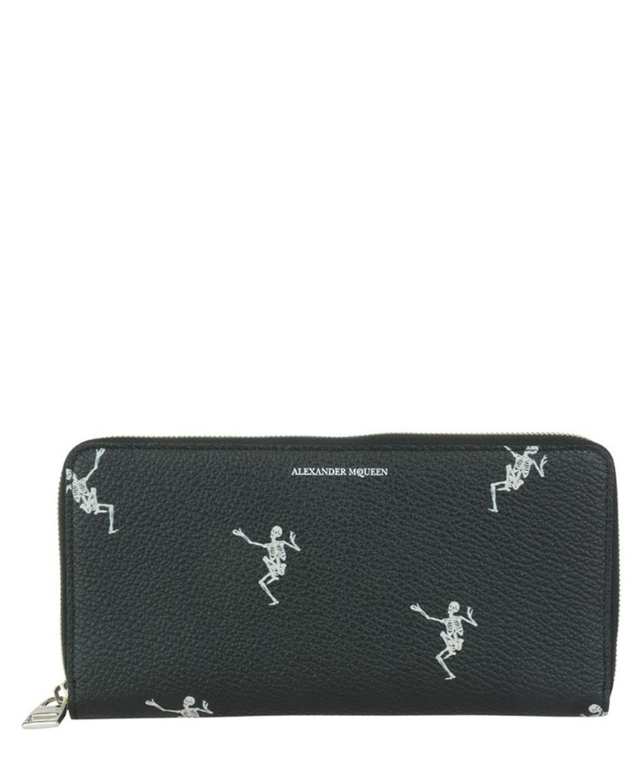 Black leather dance macabre purse Sale - alexander mcqueen