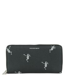 Black leather dance macabre purse