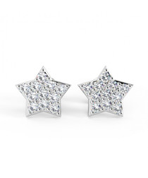 0.25ct diamond & 18k white gold studs