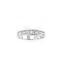 0.33ct diamond half eternity ring