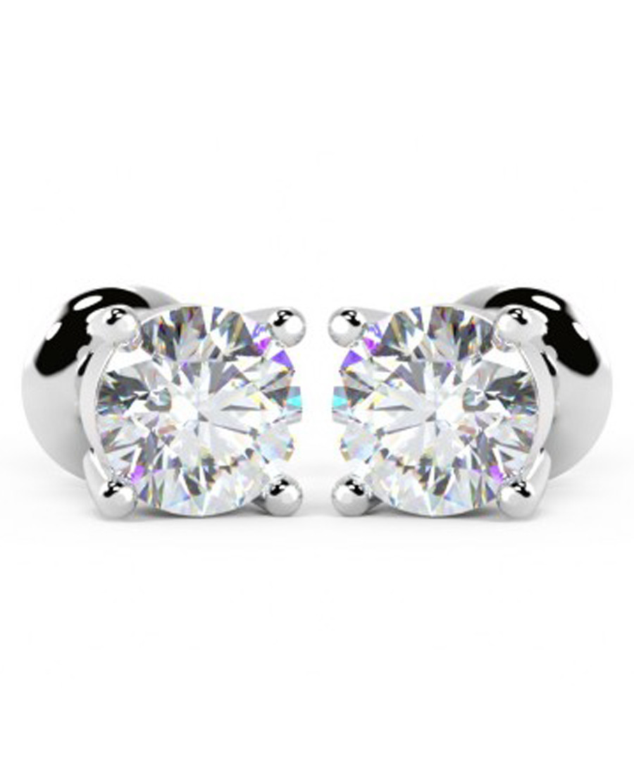 0.4ct brilliant diamond & platinum studs Sale - Buy Fine Diamonds
