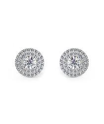 0.6ct diamond & white gold halo studs