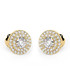 0.6ct diamond & yellow gold halo studs Sale - Buy Fine Diamonds Sale