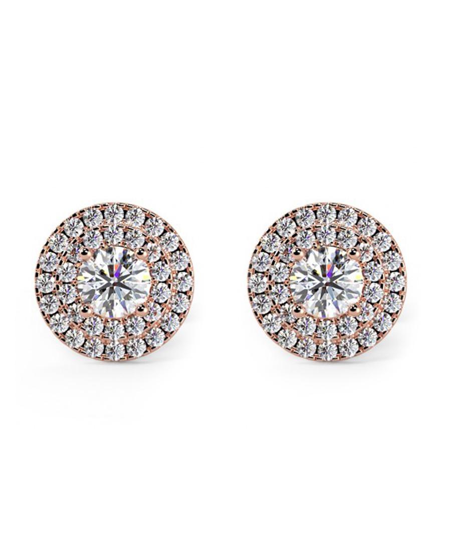 0.6ct diamond & rose gold halo studs Sale - buy fine diamonds