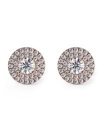 0.6ct diamond & rose gold halo studs