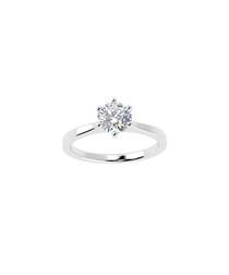 0.25ct diamond & platinum solitaire ring