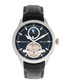 Gregory steel & black leather watch Sale - heritor automatic Sale