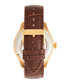Gregory gold-tone & brown leather watch Sale - heritor automatic Sale