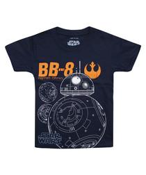 Kids' BB8 navy pure cotton T-shirt