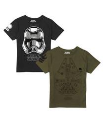 2pc kids' Falcon & Trooper T-shirts