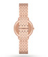 Rose gold-plated & mother of pearl watch Sale - Emporio Armani Sale