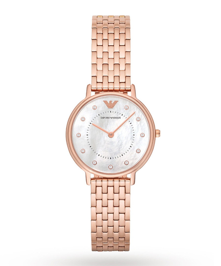 Rose gold-plated & mother of pearl watch Sale - Emporio Armani