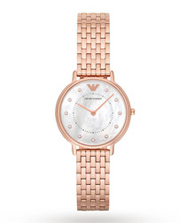 Rose gold-plated & mother of pearl watch