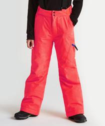 Kids' red salopette ski trousers