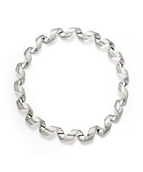Sterling silver twist bangle
