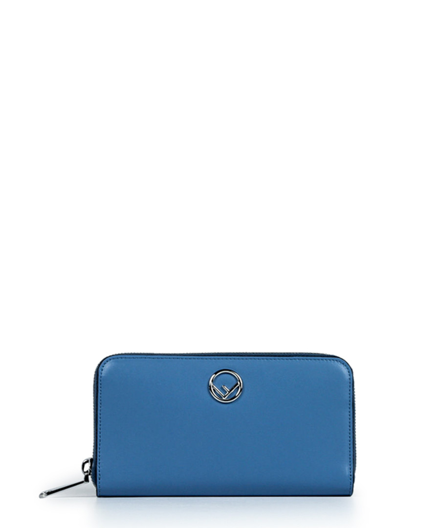 Blue leather zip-around purse Sale - Fendi