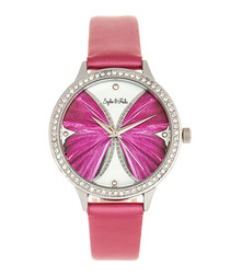 Rio Grande pink crystal watch