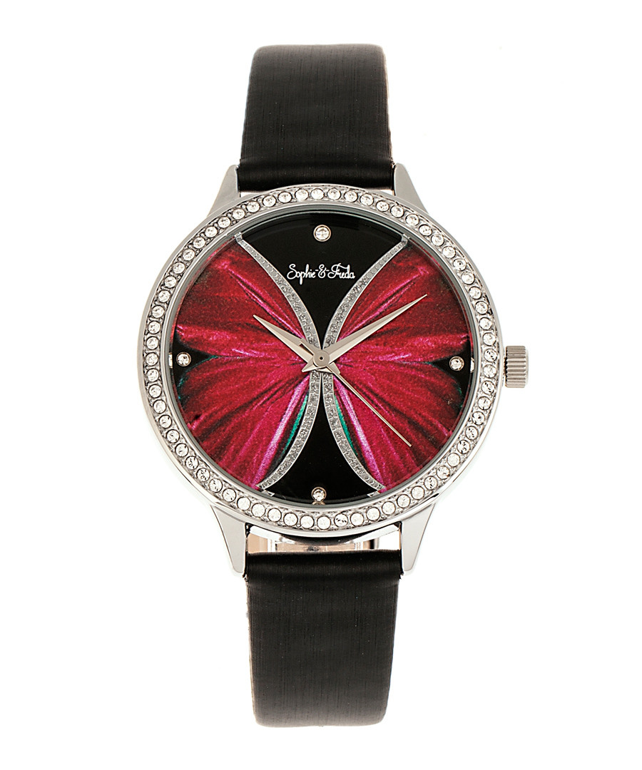 Rio Grande black crystal watch Sale - sophie & freda