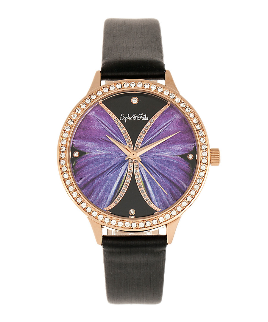 Rio Grande black & rose gold-tone watch Sale - sophie & freda