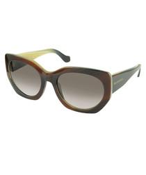 Brown Havana rounded sunglasses