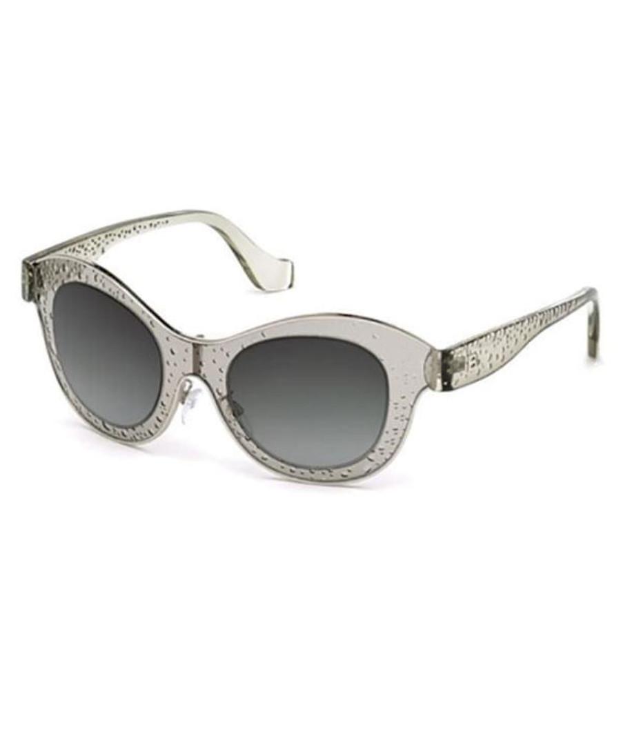 Clear & grey rounded sunglasses Sale - balenciaga